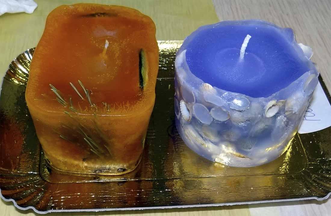 парафиновые свечи сделанные на мастер-классе в детском центре Гармония Мытищи
