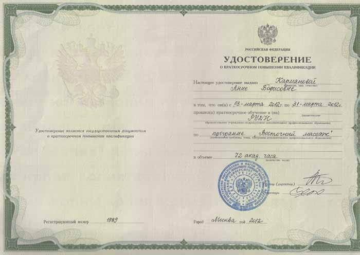Инструктор по йоге Анна Карманова